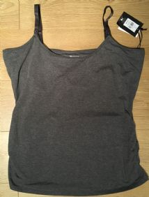 BLOOMING MARVELLOUS GREY NURSING VEST TOP BNWT SIZE XL 20